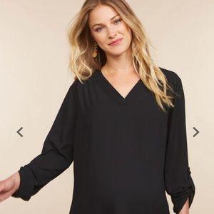 XL motherhood maternity black flowy blouse